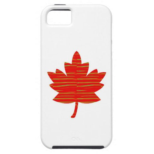 Proud Canadian MAPLE LEAF :ENERGETIC  Red on Silk iPhone 5 Case