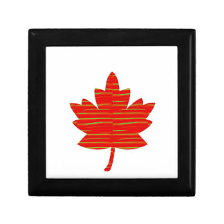 Proud Canadian MAPLE LEAF :ENERGETIC  Red on Silk Small Square Gift Box