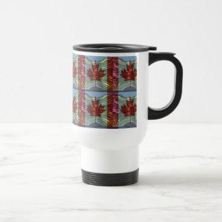 PROUD CANADIAN MAPLE LEAF Pattern Coffee Mugs