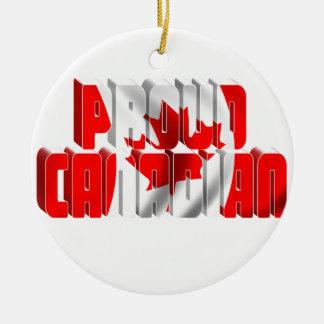 Proud Canadian Round Ceramic Decoration