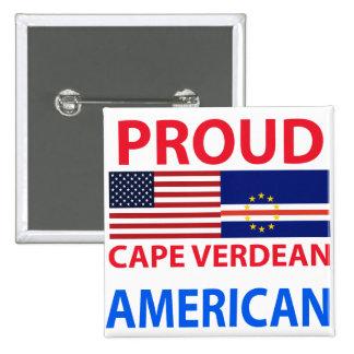 Proud Cape Verdean American 15 Cm Square Badge