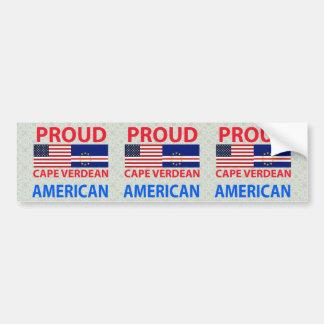Proud Cape Verdean American Bumper Sticker
