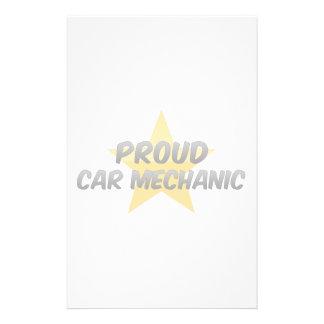 Proud Car Mechanic Personalized Stationery