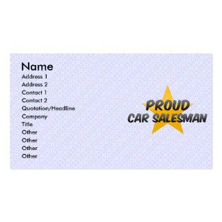 Proud Car Salesman Business Cards