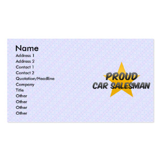Proud Car Salesman Pack Of Standard Business Cards