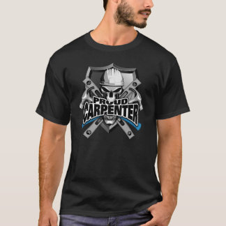 Proud Carpenter Skull and Hammers T-Shirt