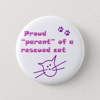 proud cat 6 cm round badge