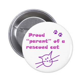 proud cat 6 cm round badge