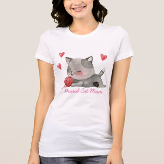 proud cat mom T-Shirt