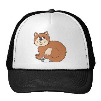 Proud Cat sitting on Mouse Trucker Hat