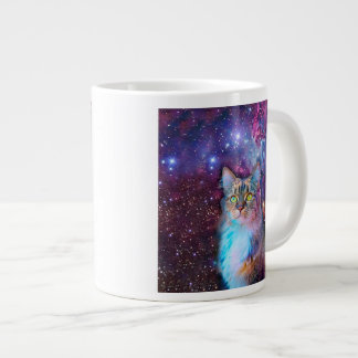 Proud Cat With Space Background Large Coffee Mug