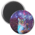 Proud Cat With Space Background Magnet