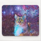 Proud Cat With Space Background Mouse Mat