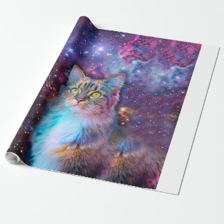 Proud Cat With Space Background Wrapping Paper