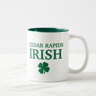 Proud CEDAR RAPIDS IRISH! St Patrick's Day Two-Tone Mug