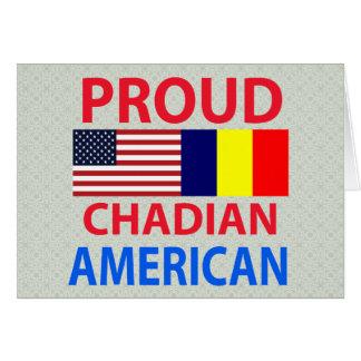 Proud Chadian American Greeting Card
