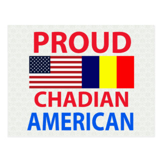 Proud Chadian American Postcard