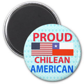 Proud Chilean American 6 Cm Round Magnet