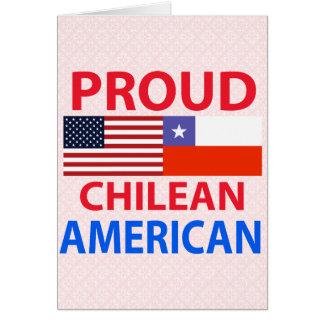 Proud Chilean American Greeting Card