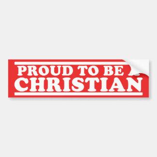 Proud Christian Bumper Stickers
