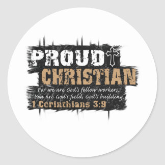 Proud Christian Classic Round Sticker