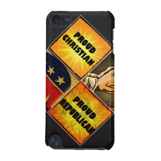 PROUD CHRISTIAN, PROUD REPUBLICAN iPod TOUCH (5TH GENERATION) CASES