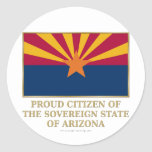 Proud Citizen of  Arizona Classic Round Sticker