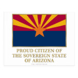 Proud Citizen of  Arizona Postcard