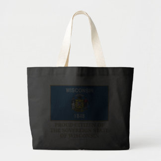 Proud Citizen of Wisconsin Tote Bags