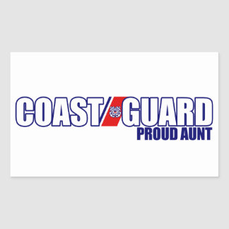Proud Coast Guard Aunt Rectangular Sticker