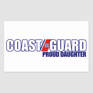 Proud Coast Guard Daughter Rectangular Sticker