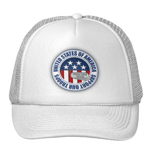 Proud Coast Guard Father Mesh Hats