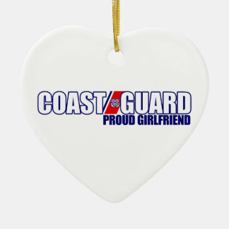 Proud Coast Guard Girlfriend Christmas Ornament