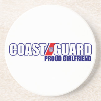 Proud Coast Guard Girlfriend Beverage Coaster