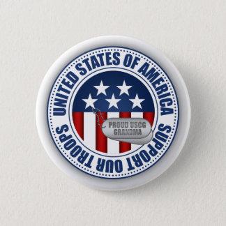 Proud Coast Guard Grandma 6 Cm Round Badge