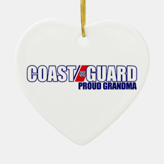 Proud Coast Guard Grandma Christmas Ornament