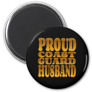 Proud Coast Guard Husband in Gold Magnet