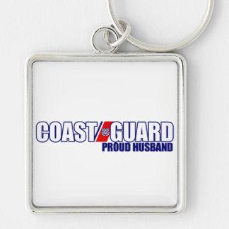 Proud Coast Guard Husband Keychain