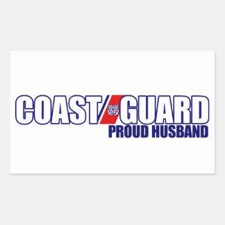 Proud Coast Guard Husband Rectangular Sticker