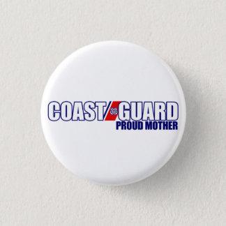 Proud Coast Guard Mother 3 Cm Round Badge