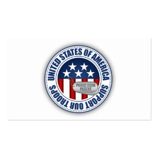 Proud Coast Guard Parent Pack Of Standard Business Cards