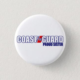 Proud Coast Guard Sister 3 Cm Round Badge