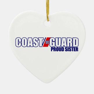 Proud Coast Guard Sister Christmas Ornament