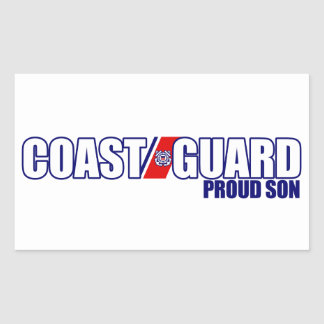 Proud Coast Guard Son Rectangular Sticker