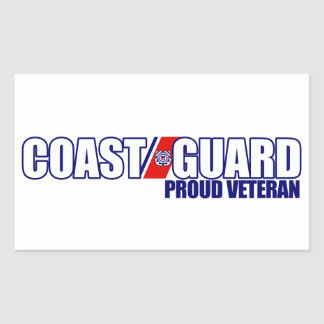 Proud Coast Guard Veteran Rectangular Sticker