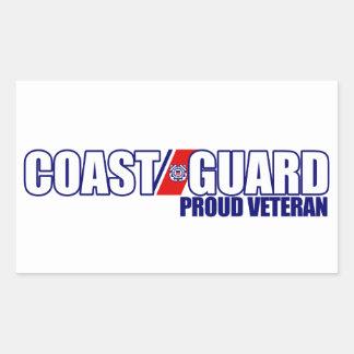 Proud Coast Guard Veteran Rectangle Sticker