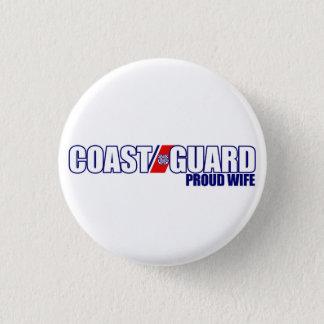 Proud Coast Guard Wife 3 Cm Round Badge