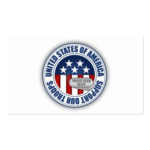 Proud Coast Guard Wife Pack Of Standard Business Cards