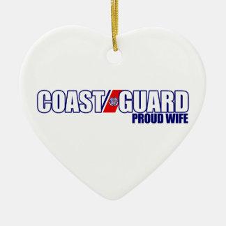 Proud Coast Guard Wife Christmas Ornament
