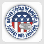 Proud Coast Guard Wife Square Stickers